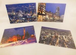 札幌の美しい夜景のポストカード