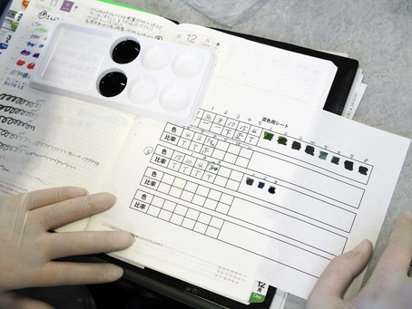 文具ライターの武田健氏によるオリジナルカラーインク作りのワークショップを開催! 7F