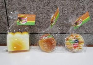 ふわふわスクイーズ 食パン/ハムパン/フルーツパン