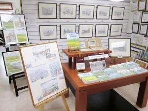 北海道を柔らかく描く風景画家「イマイカツミ」さんの塗り絵が登場!(3階)