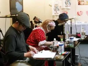 いがらしゆみこ先生と北海道在住の漫画家によるライブドローイング