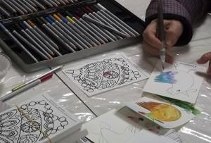 ステッドラー水彩色鉛筆「カラト」の実演販売を開催しました!