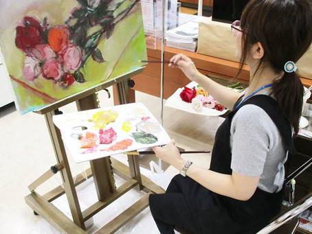 水で描ける次世代油絵具!水可溶性油絵具「DUO(デュオ)」の実演販売を開催しました! 3F