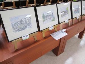 駅舎の作品も展示しています