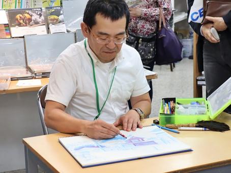 北海道初!リアル色鉛筆画家の林亮太先生の色鉛筆教室&ライブドローイングを開催! 1F・7F