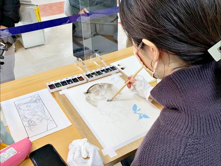 札幌在住イラストレーター・ユエさんのライブペイントを開催いたしました 3F