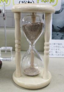 自然の砂 砂時計 3分計 白木