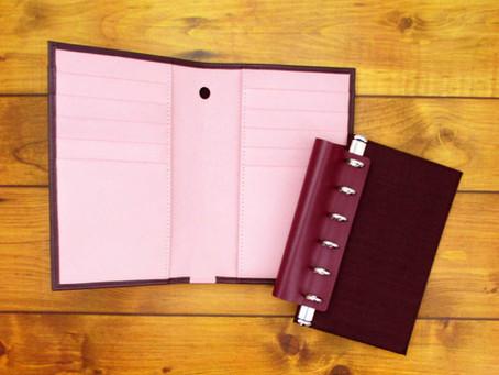 アシュフォードのシステム手帳の新商品! 「ヘリテージ」と「ウォレットジャケット」シリーズ、「キュリオ」のミニ6サイズ 2F