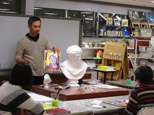 松崎先生の絵画起用室