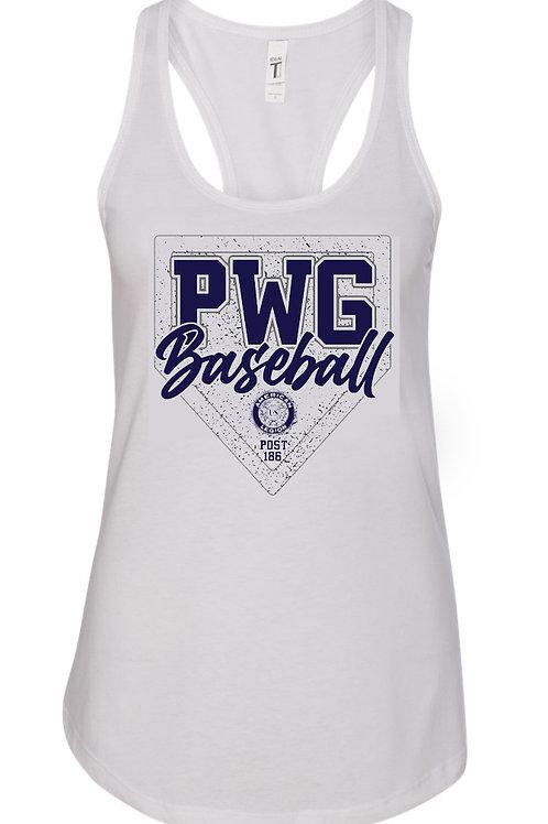 PWG Women's Racerback Tank White