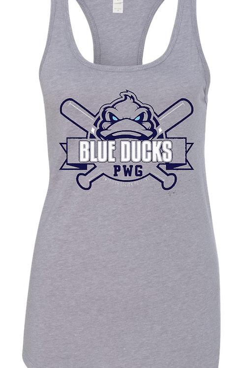 Blue Ducks Women's Racerback Tank Grey