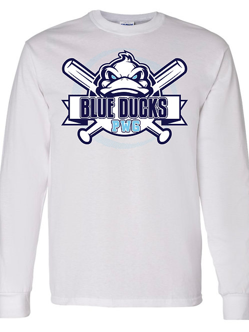 Blue Ducks LS White