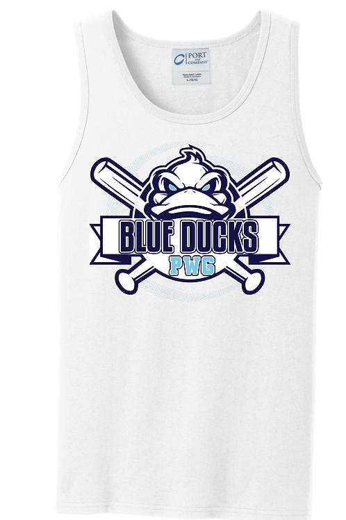 Blue Ducks Unisex Tank White