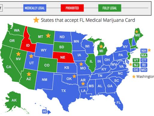 Medical Marijuana Card Reciprocity between States