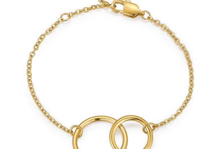 ICRUSH - Round and Round Armband gold