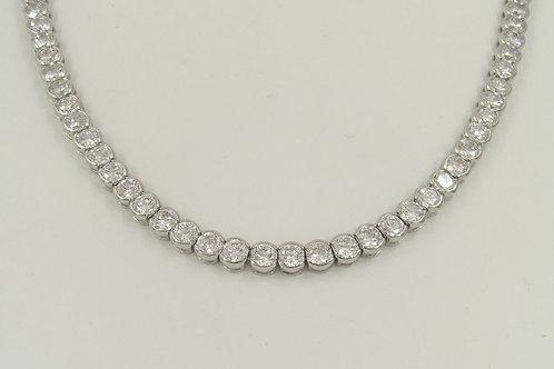 MÜLLER - Halskette Silber mit Zirkonia
