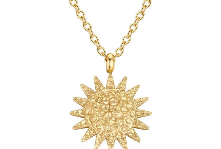 ICRUSH - Textured Sun Kette gold