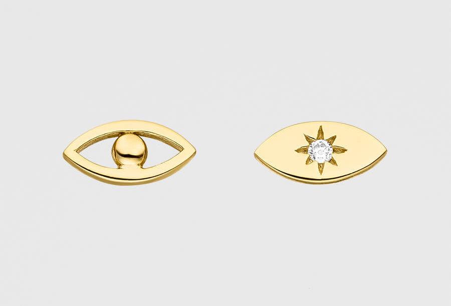 ICRUSH - Eye to Eye Ohrstecker gold