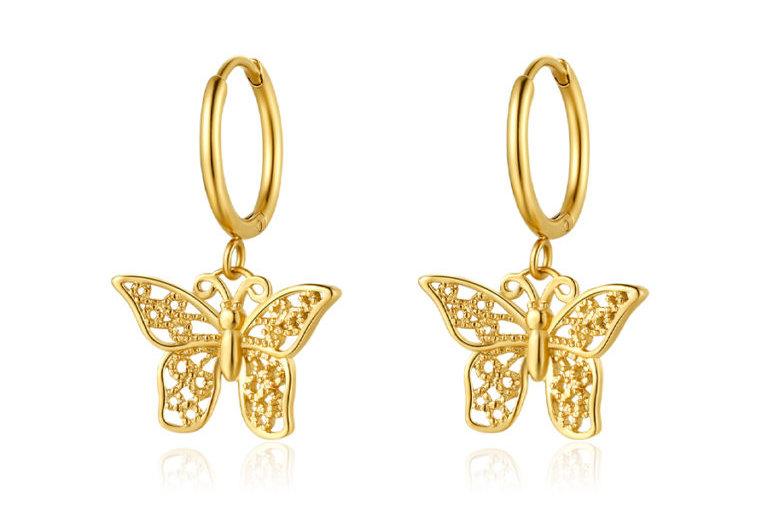 ICRUSH - Butterfly Ohrringe gold