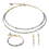 Thumbnail: COEUR - Armband Wasserfall small Edelstahl gold & Glas silber