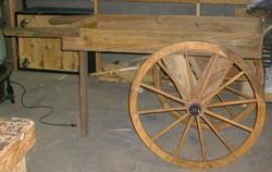 Wood Cart - wagon wheels