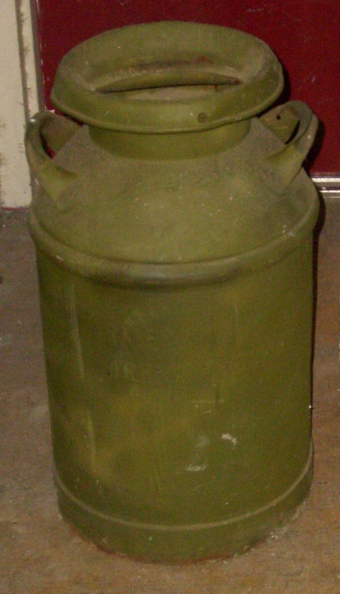 Milk Can - green
