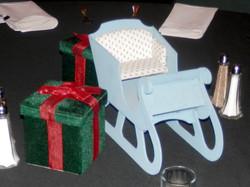 Small white sleighs