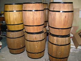 Aged Wood Barrels 30in tall