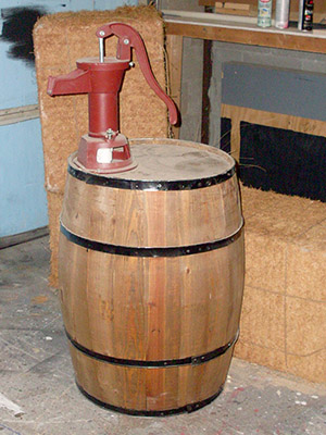 Barrel and Water Pump