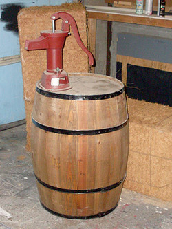 Barrel and Water Pump