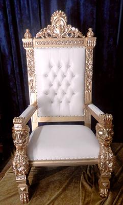 Gothic Style XXL Throne - White
