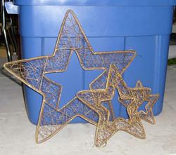 Wire mesh gold stars