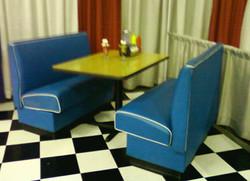 Diner Booth - Blue