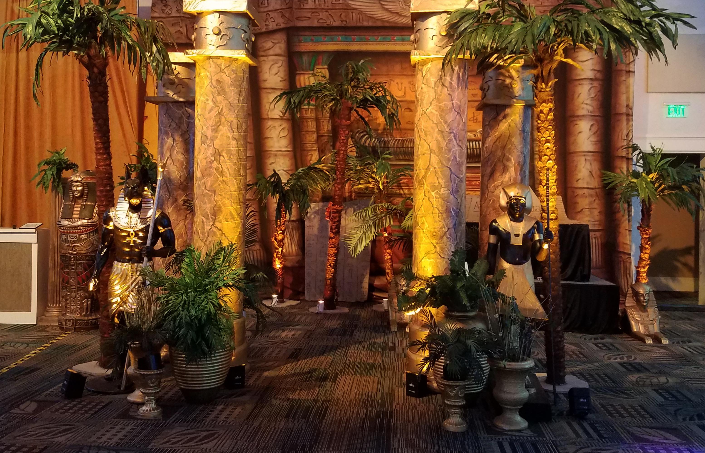 Faux Marble Columns Black Guardians Palm