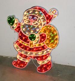 outdoor lighted santa 20in