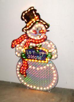 outdoor lighted snowman