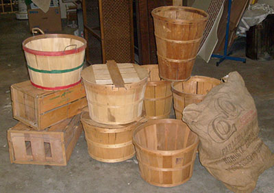 Baskets Bushel Bags and Crates