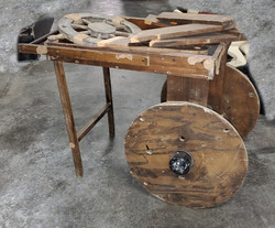 Primitive Wood Cart
