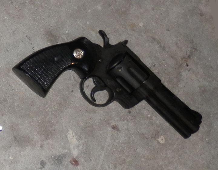 Hand Gun revolver black
