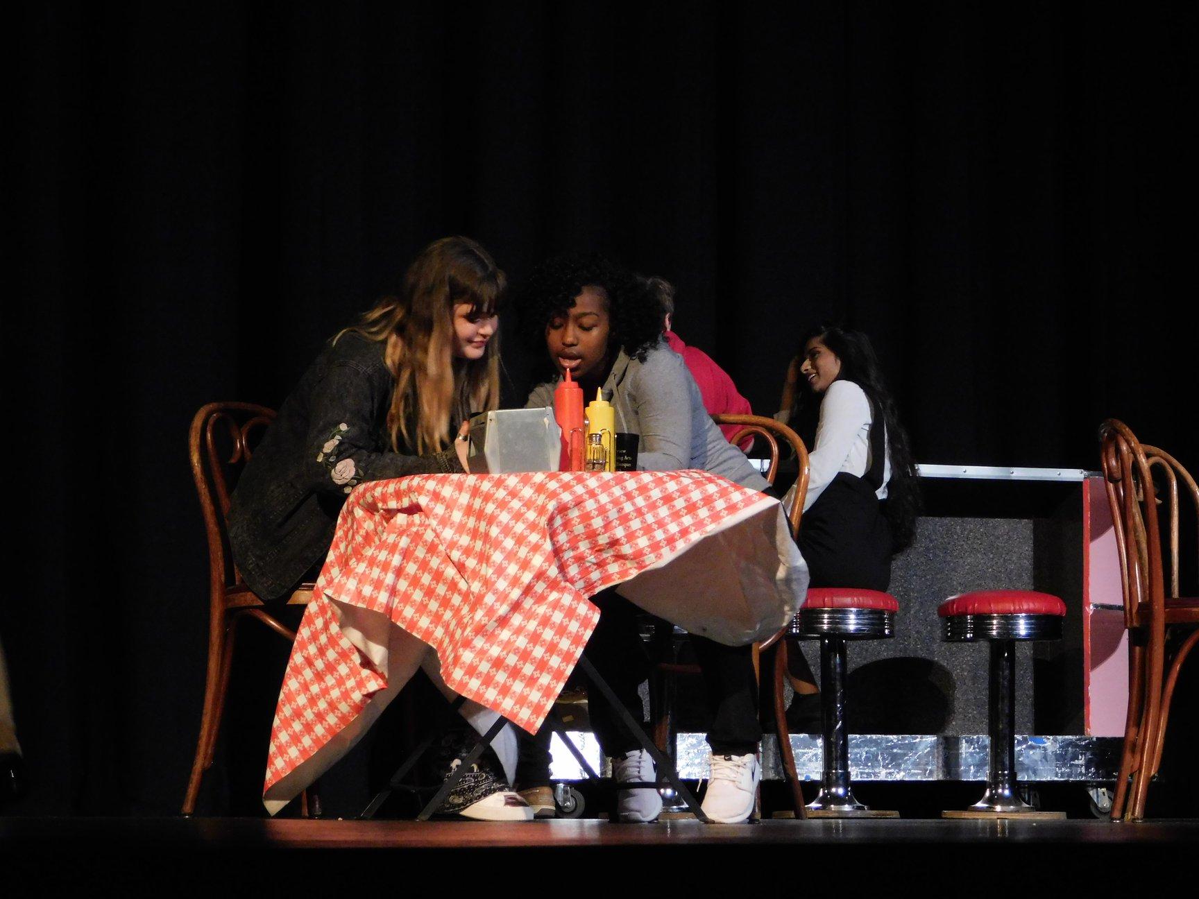 Diner Scene on Stage