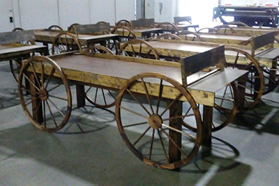 Wagon Buffet Tables