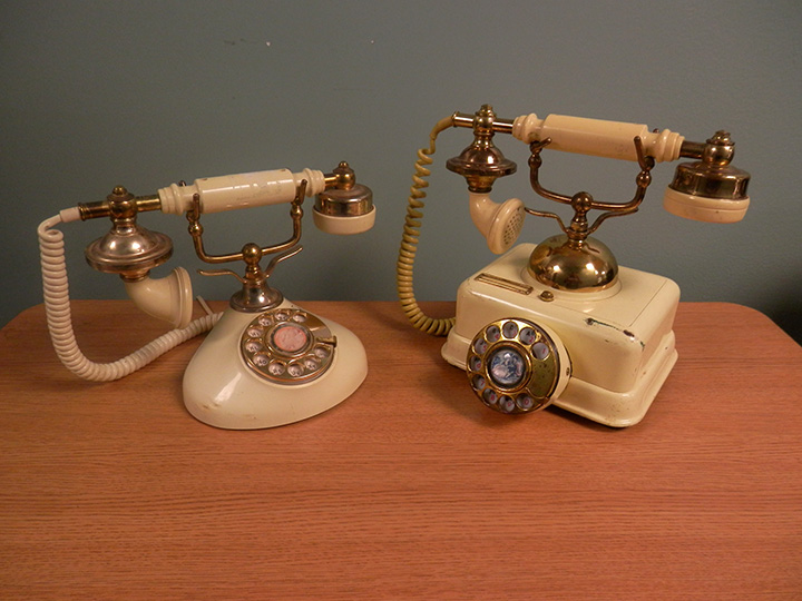 Antique Ivory Desk Phones
