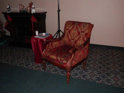 Elegantly carved Christmas chair