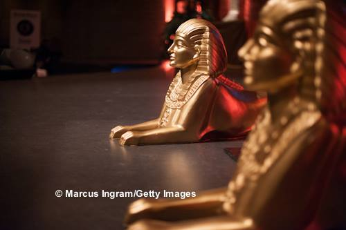 Egyptian Gold Sphinxes