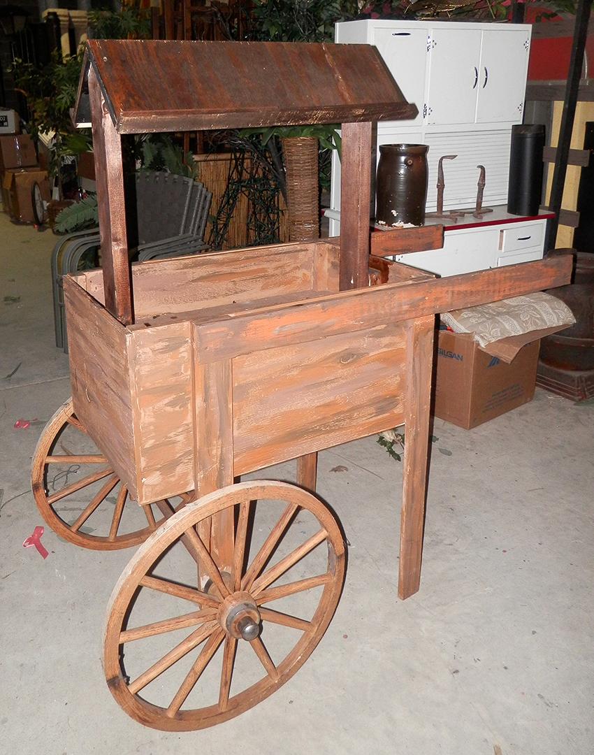 Deluxe Wood Cart