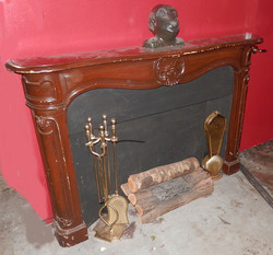 Fireplace - Nice Wood with Mantel