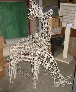 outdoor lighted reindeer pair