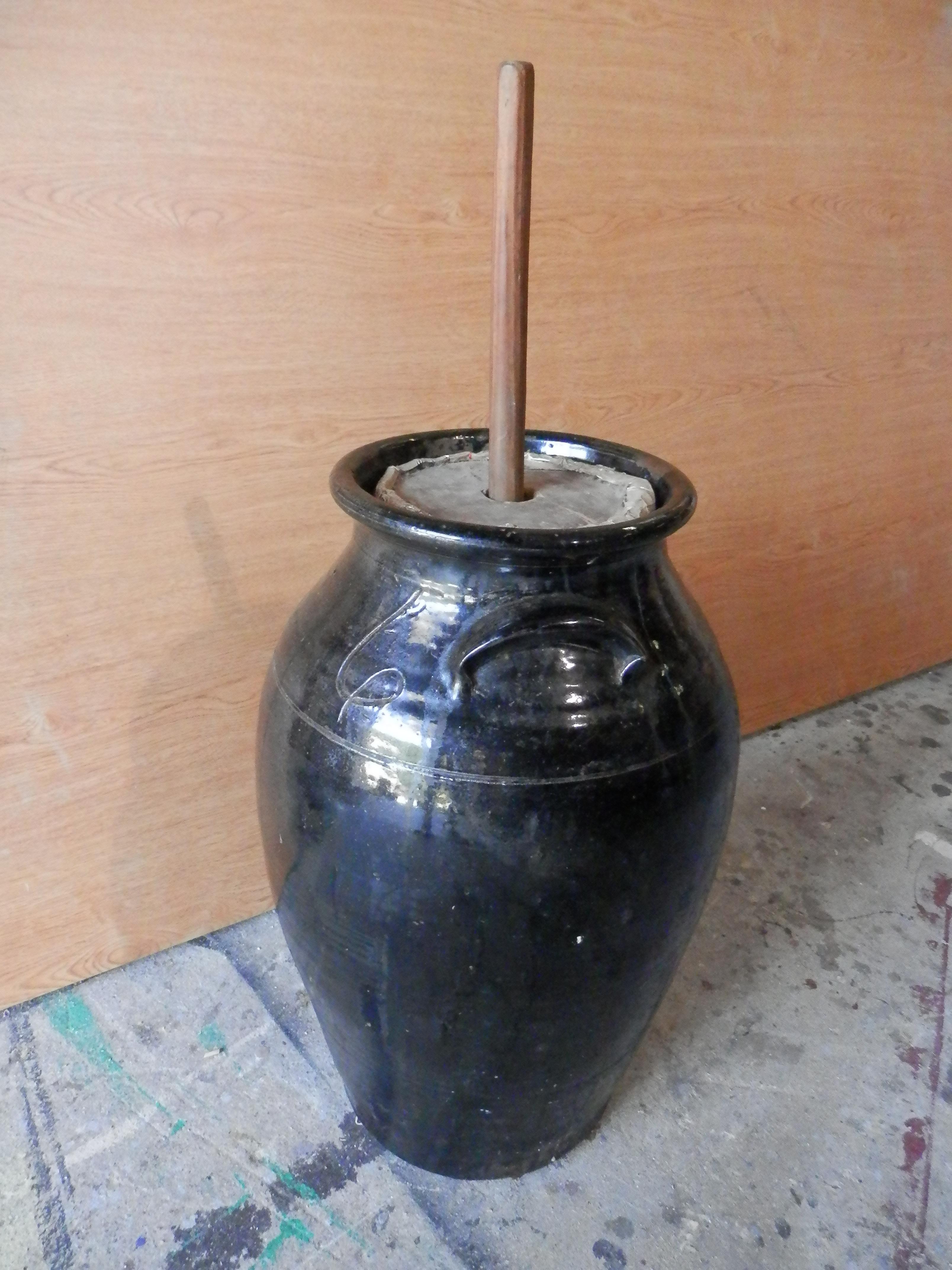Butter Churn - black vase