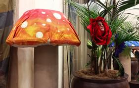 XL Orange Mushroom 7ft