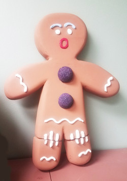 Gingy on Cookie Pan